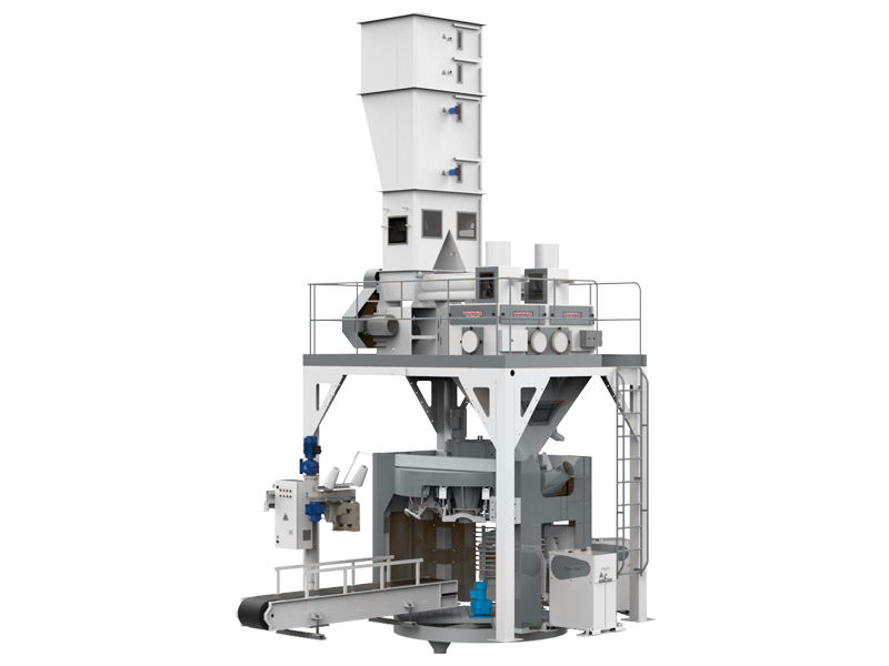 Flour Bagging System With Double Weight Hopper & Six Stations