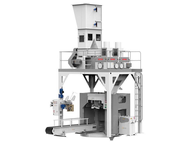 Flour Bagging Machine With Double Weigh Hopper & Four Stations
