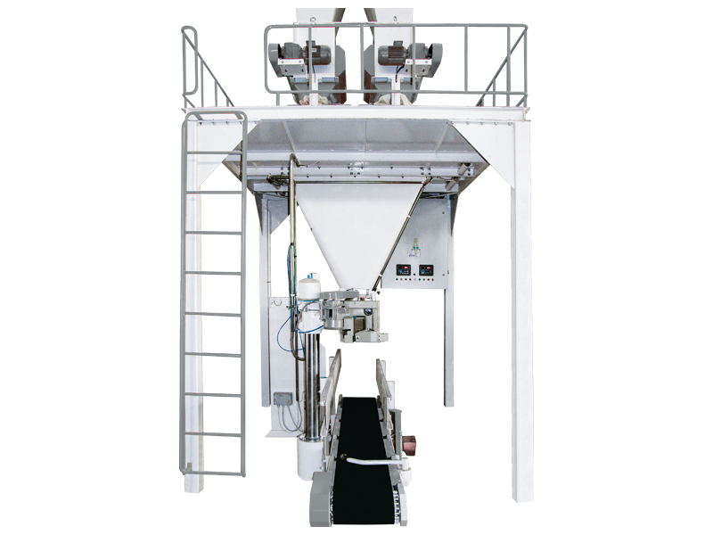 Bran Bagging Machine With Double Weigh Hopper & Single Station