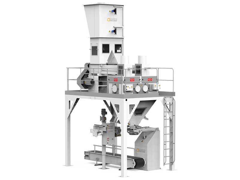 Flour Bagging Machine System With Double Weigh Hopper & Single Station