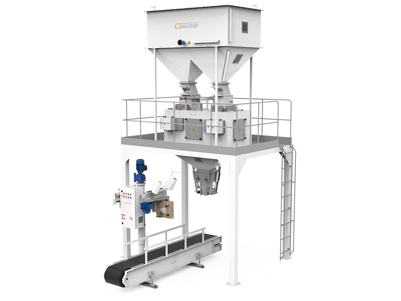 Pulses Packaging Machine Double Four Weigh Hoppers & Single Station
