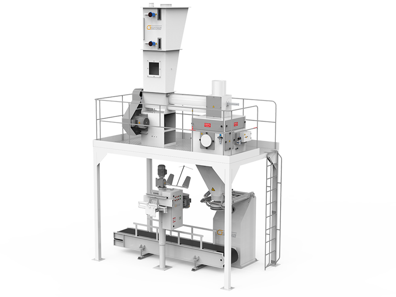 Flour Bagging Machine System With Single Weigh Hopper & Single Station